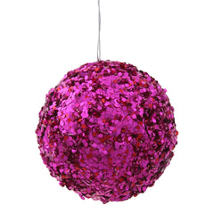 "3.5"" Cerise Sparkle Sequin Ball"