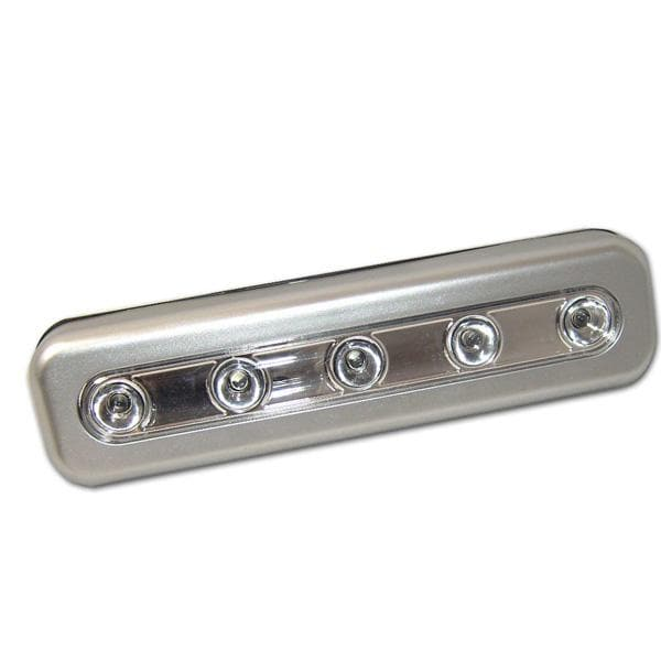 BulbAmerica 5 LED Silver Tap Light Batteries Included