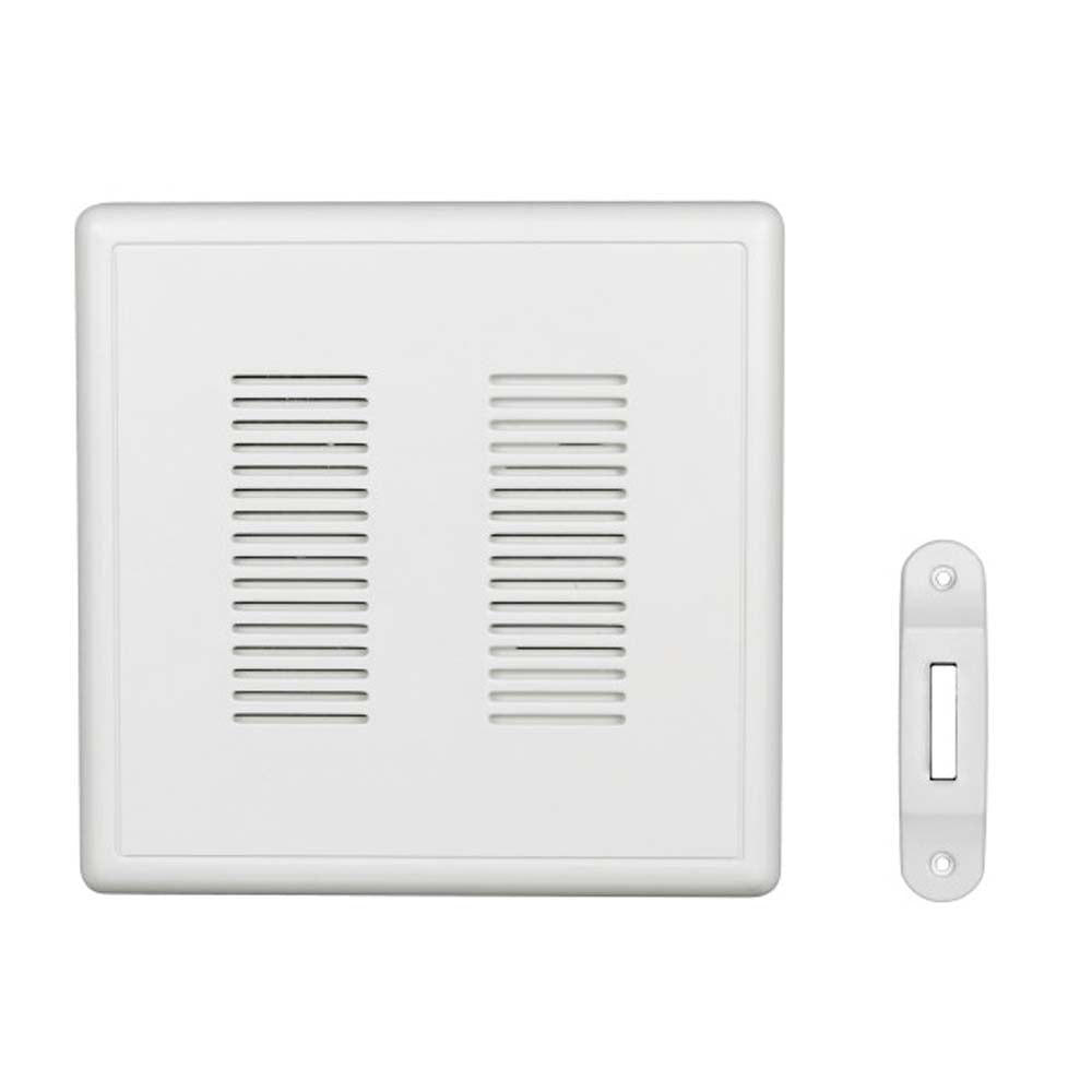 Nicor PrimeChime Plus 2 - Doorbell Chime Kit with White  Button