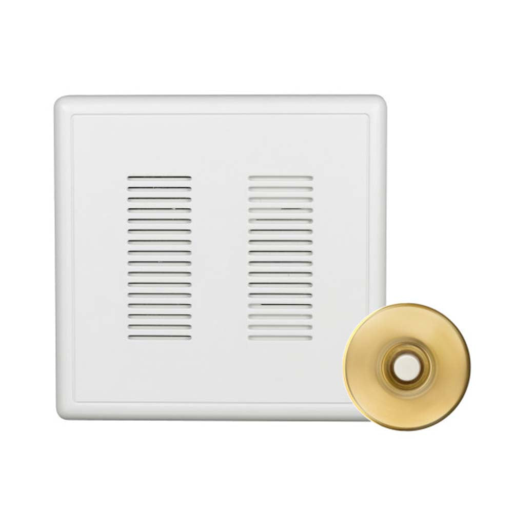 Nicor PrimeChime Plus 2 - Doorbell Chime Kit with Polished Brass  Button