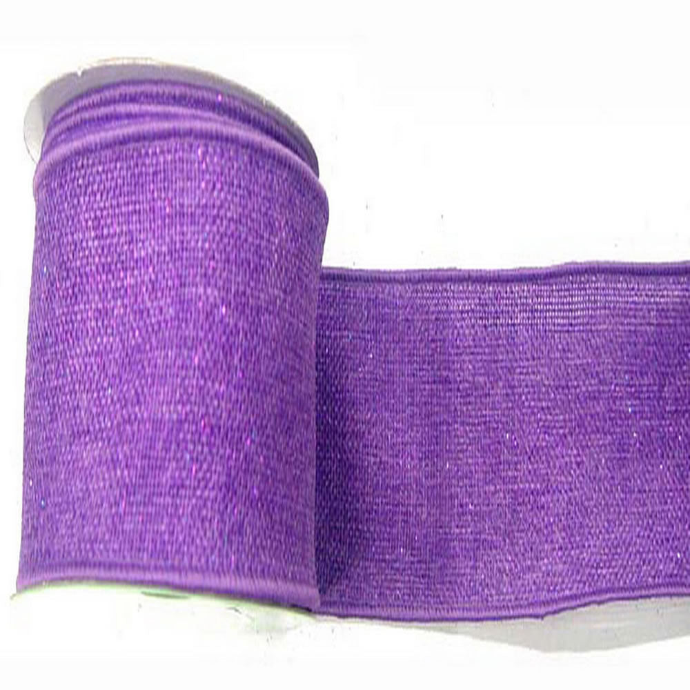 "2.5"" x 10yd Purple Sparkle Burlap"