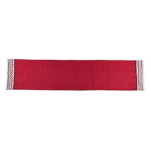 "6' x 16"" Red Sequin Chevron Design Festive Holiday Christmas Table Runner"