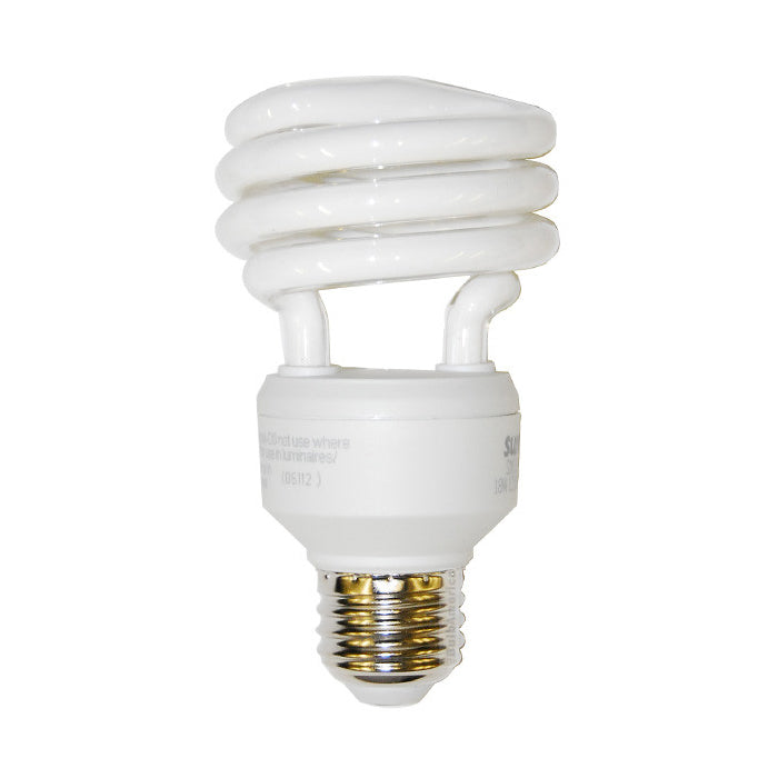 Sunlite 18w 120v Super Mini Twist 6500k Daylight Fluorescent Light Bulb