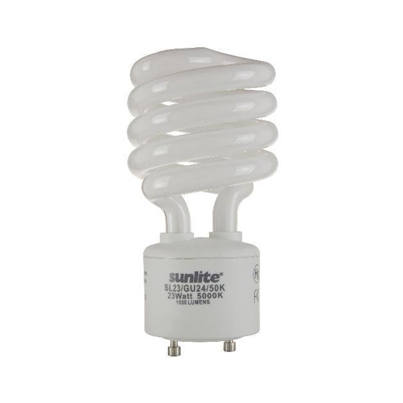 SUNLITE 23W 120V GU24 Super White 5000K CFL Mini Twist Light Bulb