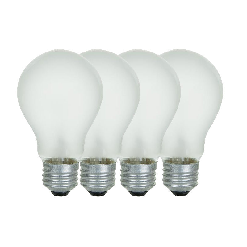 4Pk - SUNLITE 25w A/FR 120v Medium Base Frost lamp