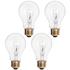 4PK - SUNLITE 75w A/CL 120v Medium Base Clear