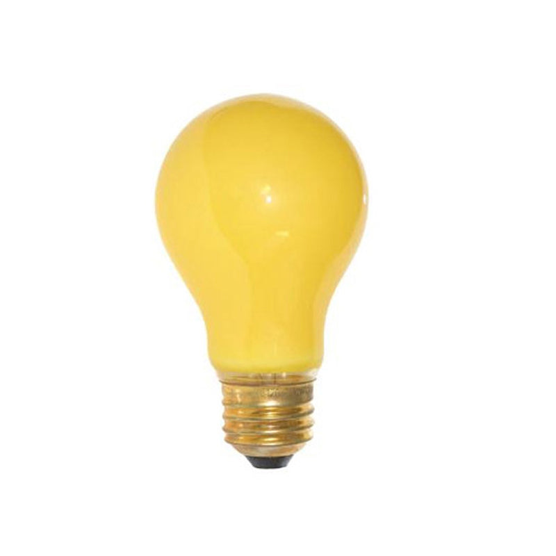 2PK - SUNLITE 60w 120v A19 Ceramic Yellow Colored lamp