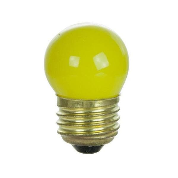 SUNLITE 7.5w S11 Ceramic Yellow Colored Medium Base lamp - 25 bulbs