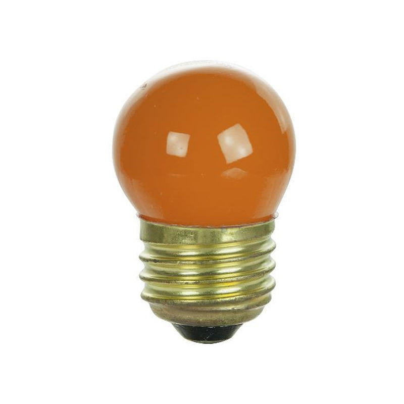 25Pk - SUNLITE 7.5w S11 120v Medium Base Orange Bulb