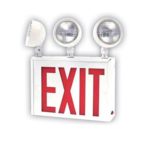 Surface 04306-SU Mount 2-3 Head Universal Exit-Emergency Light Combo