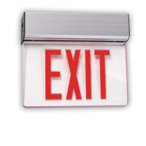 SUNLITE Universal Red Exit Emergency Sign 1 Face Clear Fixture 04317-SU