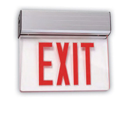 SUNLITE 04319-SU Universal Red Exit Emergency Sign 2 Face Mirror