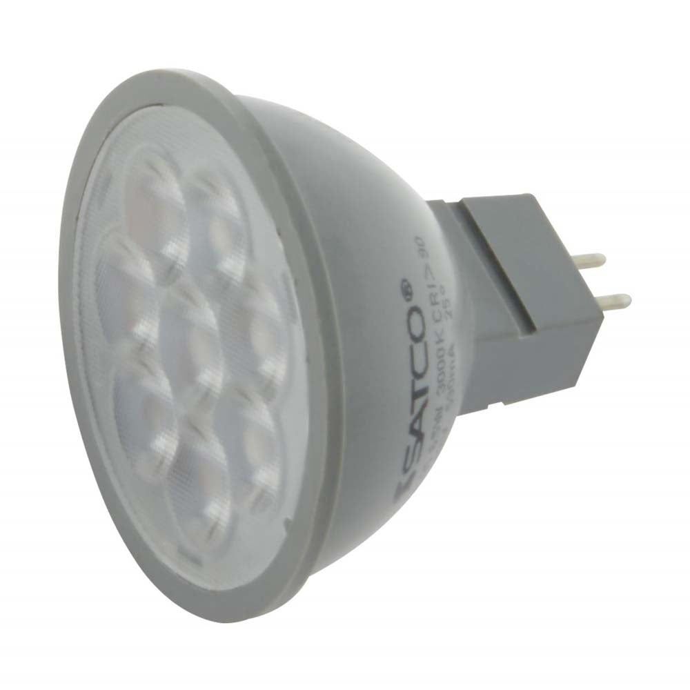 Satco 6w 24v LED MR16 Expanded Line 3000K 40 Degrees Beam GU5.3 Base - 50w-equiv