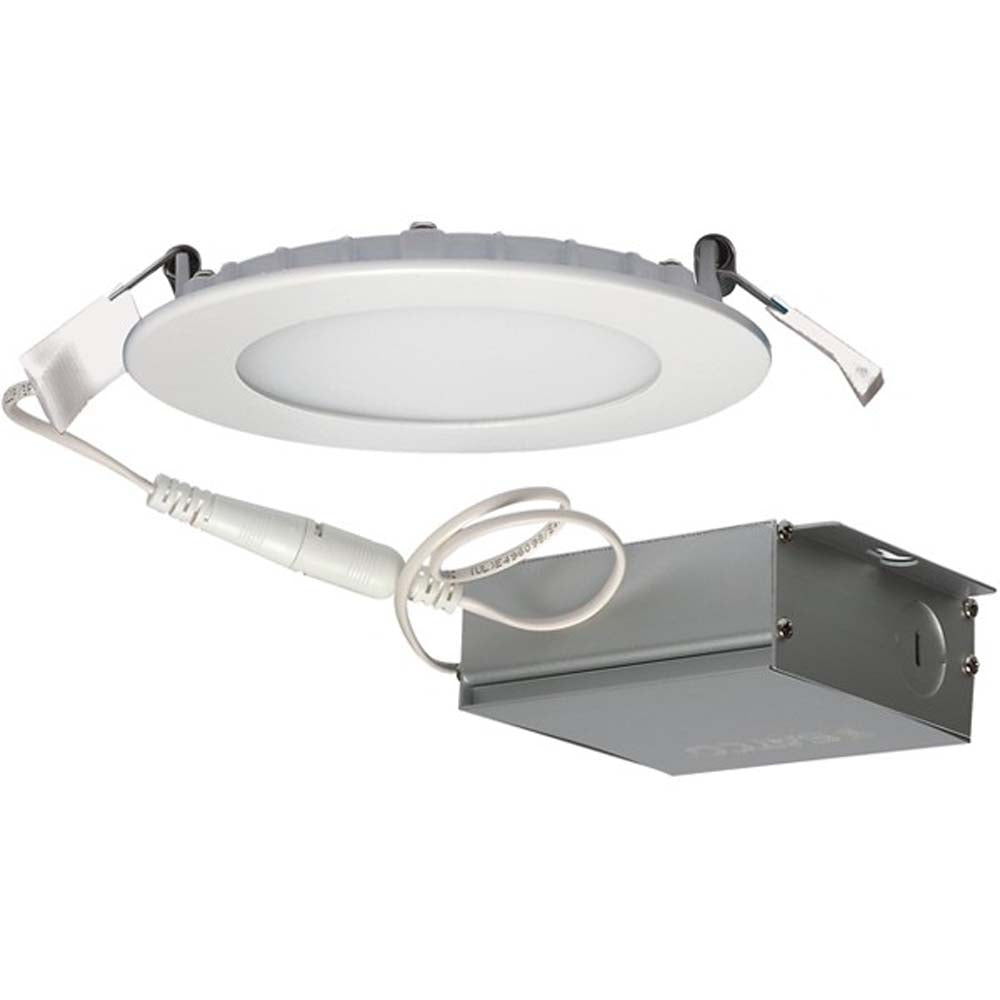 10 watt LED Direct Wire Downlight Edge-lit 4 inch 5000K 120 volt Dimmable Round Remote Driver
