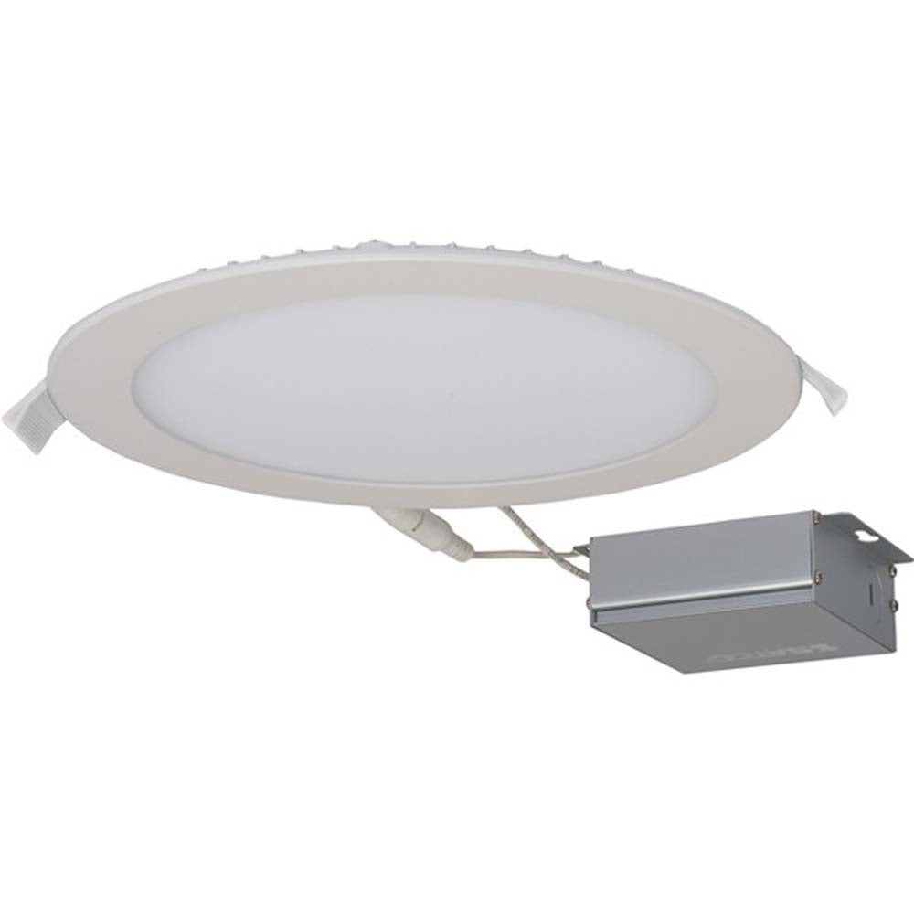 24 watt LED Direct Wire Downlight Edge-lit 8 inch 3000K 120 volt Dimmable Round Remote Driver