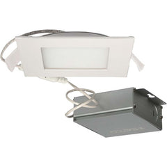 10 watt LED Direct Wire Downlight Edge-lit 4 inch 3000K 120 volt Dimmable Square Remote Driver