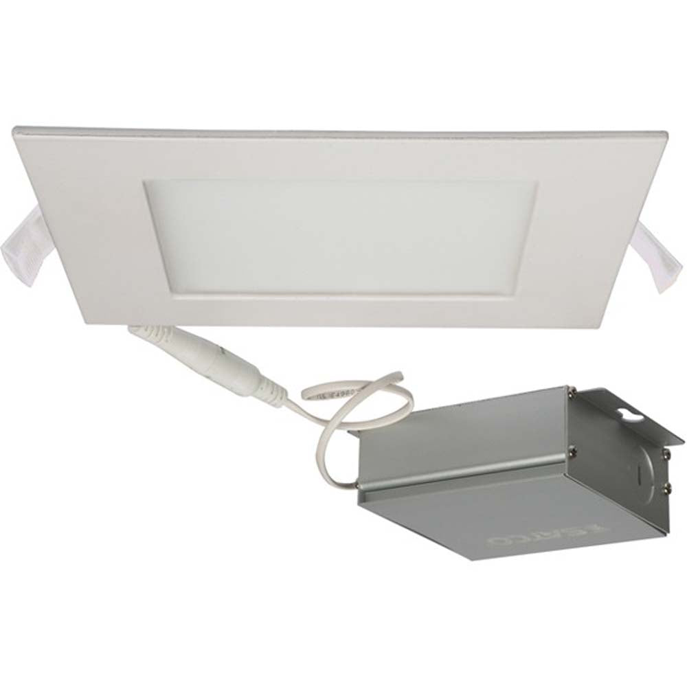 12 watt LED Direct Wire Downlight Edge-lit 6 inch 5000K 120 volt Dimmable Square Remote Driver