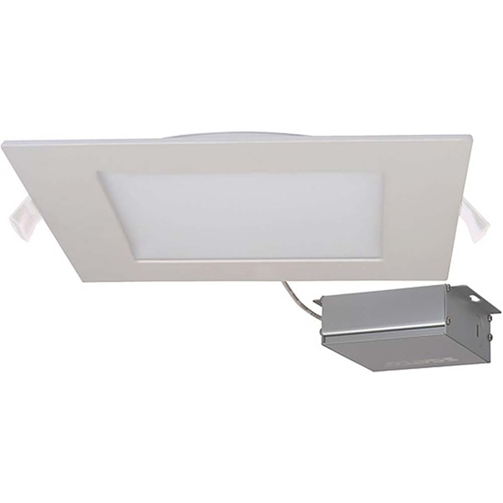 24 watt LED Direct Wire Downlight Edge-lit 8 inch 3000K 120 volt Dimmable Square Remote Driver