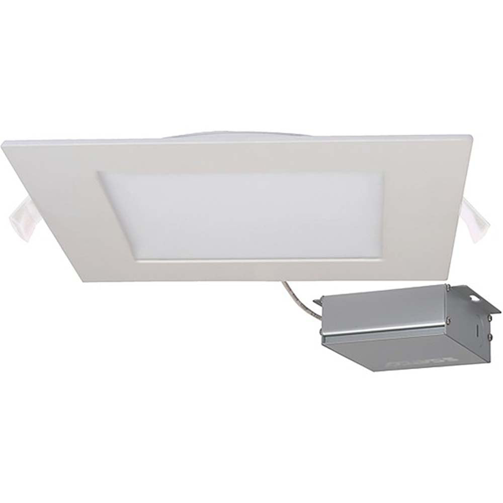 24 watt LED Direct Wire Downlight Edge-lit 8 inch 4000K 120 volt Dimmable Square Remote Driver