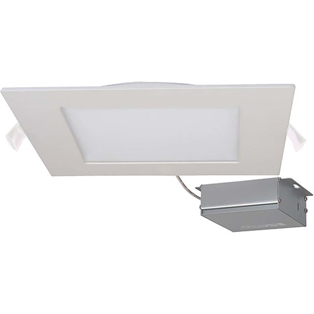 24 watt LED Direct Wire Downlight Edge-lit 8 inch 5000K 120 volt Dimmable Square Remote Driver