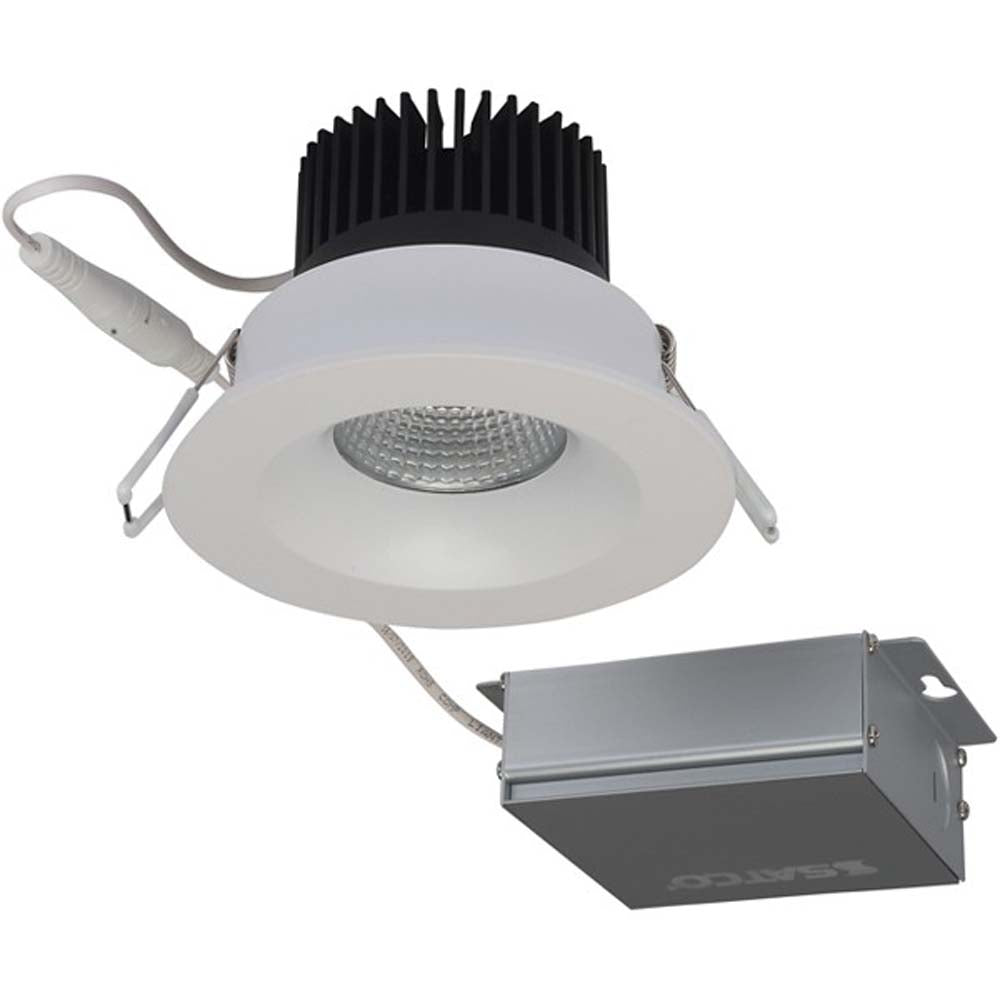 12 watt LED Direct Wire Downlight 3.5 inch 3000K 120 volt Dimmable Round Remote Driver White
