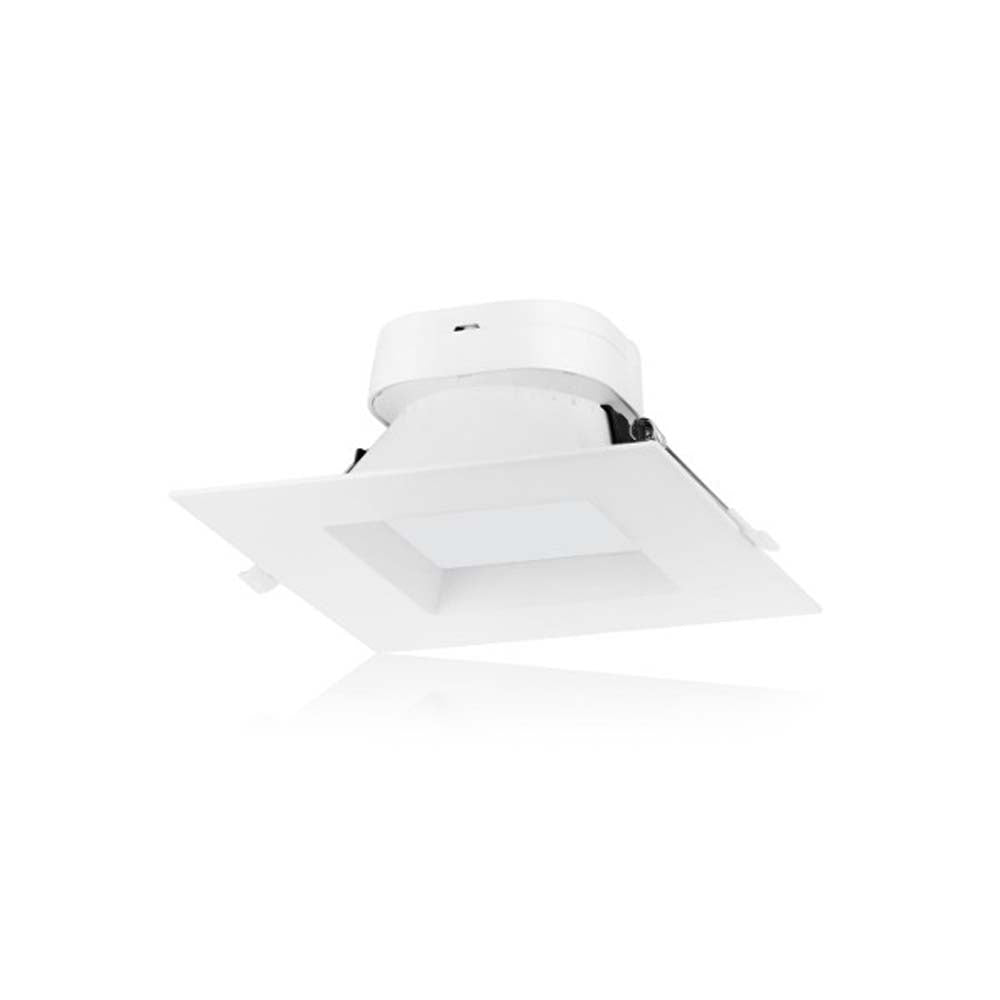 9 watt LED Direct Wire Downlight 6 inch 3000K 120 volt Dimmable Square