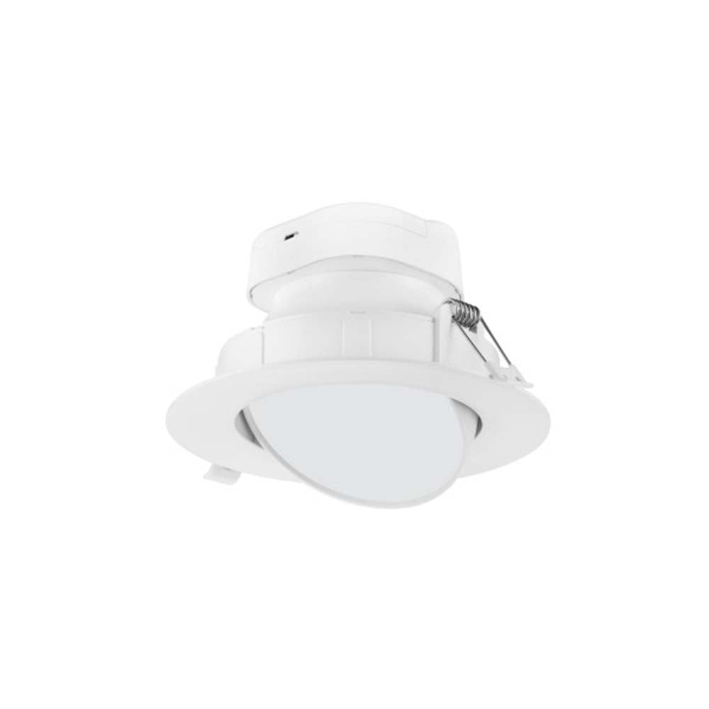 9 watt LED Direct Wire Downlight Gimbaled 6 inch 3000K 120 volt Dimmable