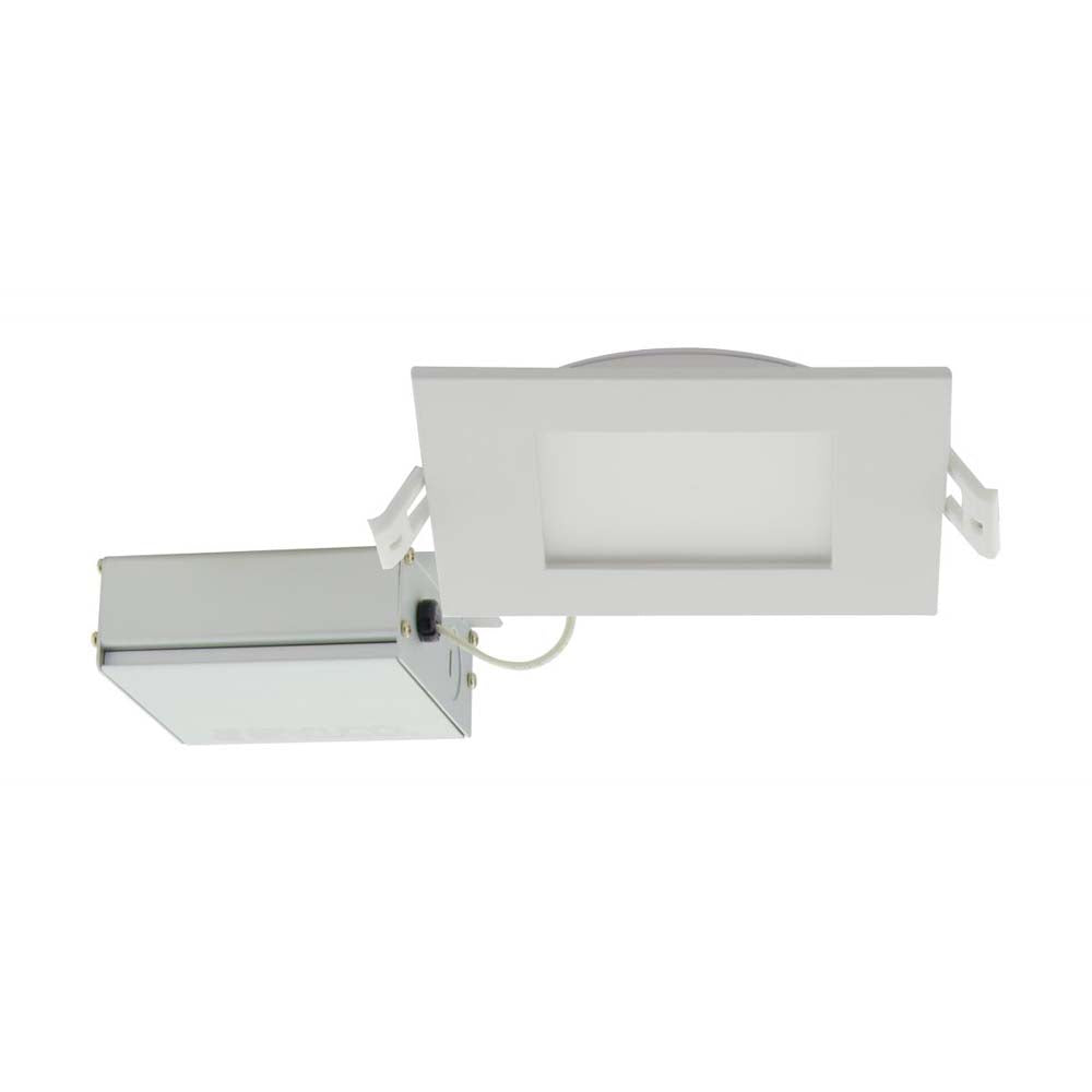 Satco 10w LED 4 inch CCT Selectable 120 volt Direct Wire Square Downlight