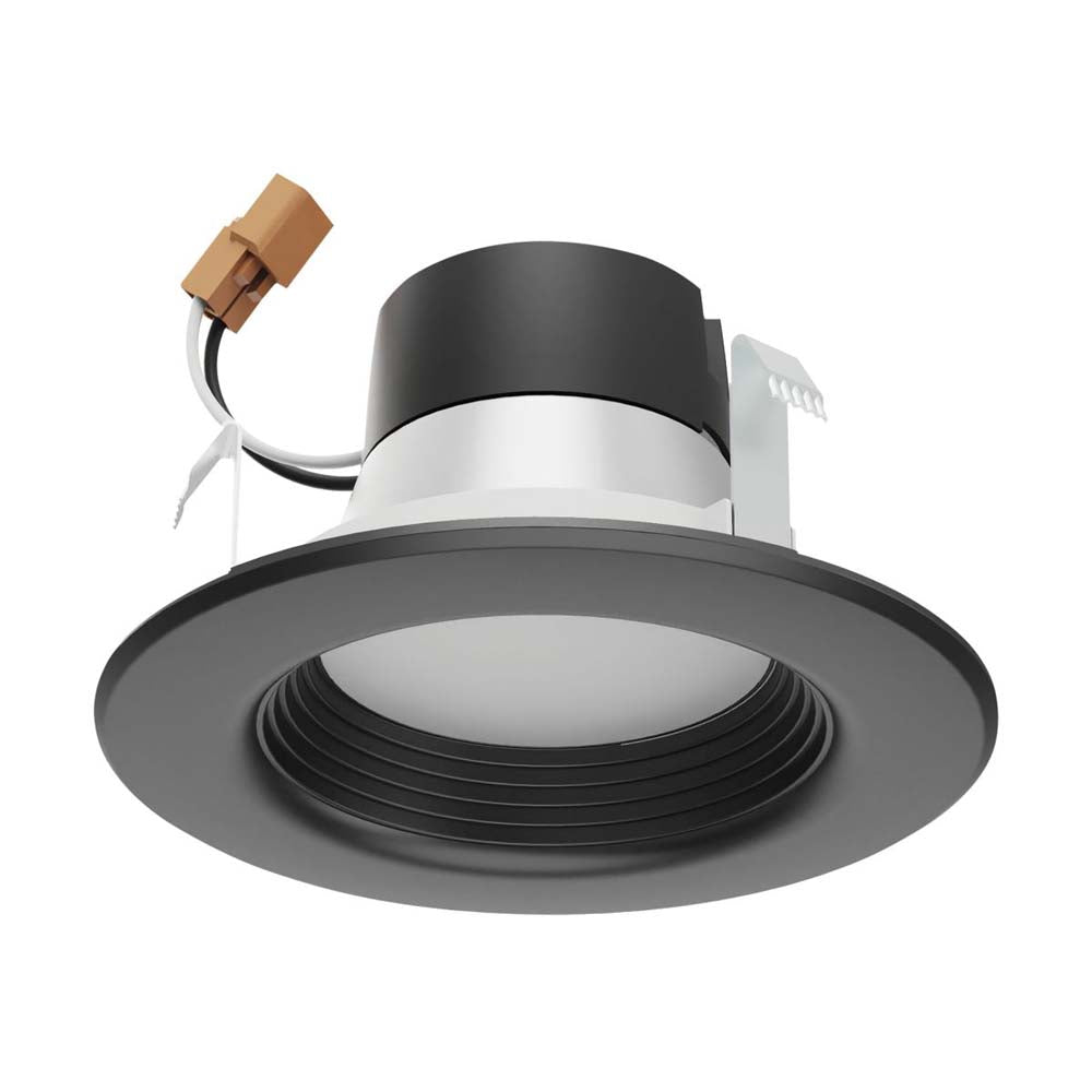 Satco 4 in 7w LED Downlight Retrofit Black Finish Tunable 120v Dimmable