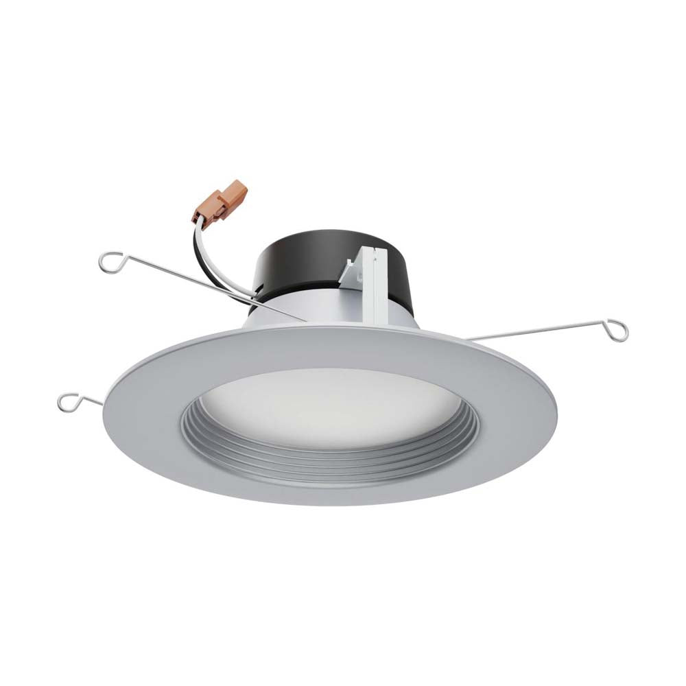 Satco 5-6 in 9w LED Downlight Retrofit Brushed Nickel Tunable 120v Dimmable