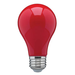 8W A19 LED Ceramic Red Medium base 360 deg. beam spread 120V