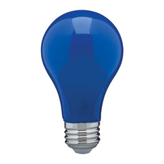 8W A19 LED Ceramic Blue Medium base 360 deg. beam spread 120V