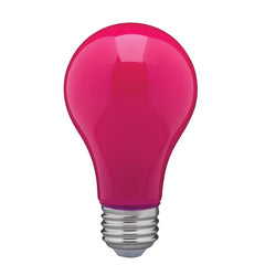 8W A19 LED Ceramic Pink Medium base 360 deg. beam spread 120V