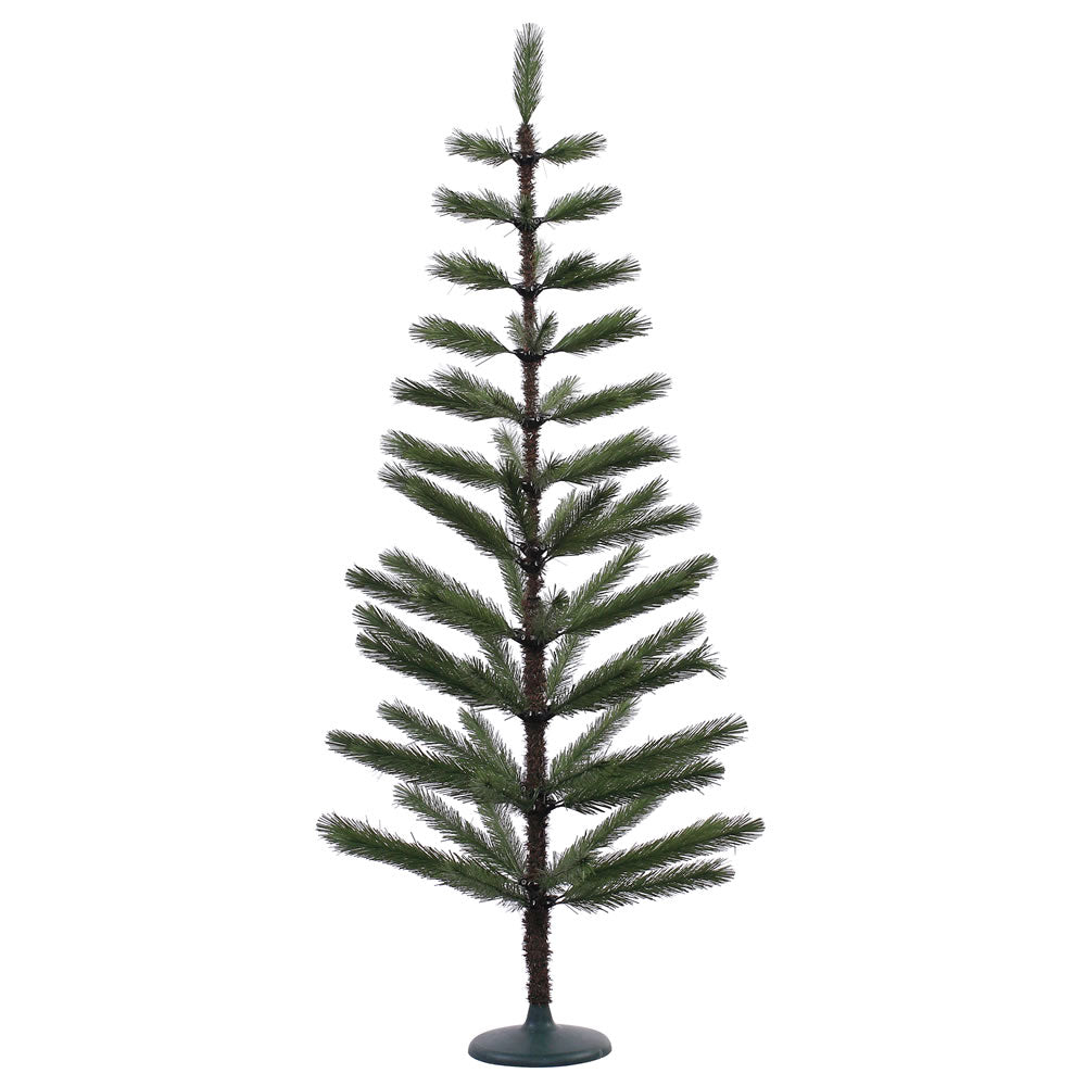 5Ft. Green Feather Display Tree 70 PVC Tips Plastic Green Stand  Branches