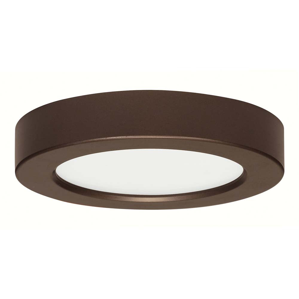 Satco 5.5in. 10.5w Flush Mount LED Fixture 3000K RoundBronze Finish 120 volts
