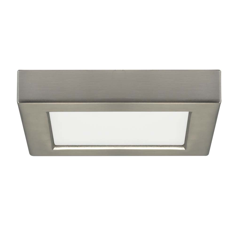 Satco 5.5in. 10.5w LED 3000K Square Brushed Nickel Finish 120 volts