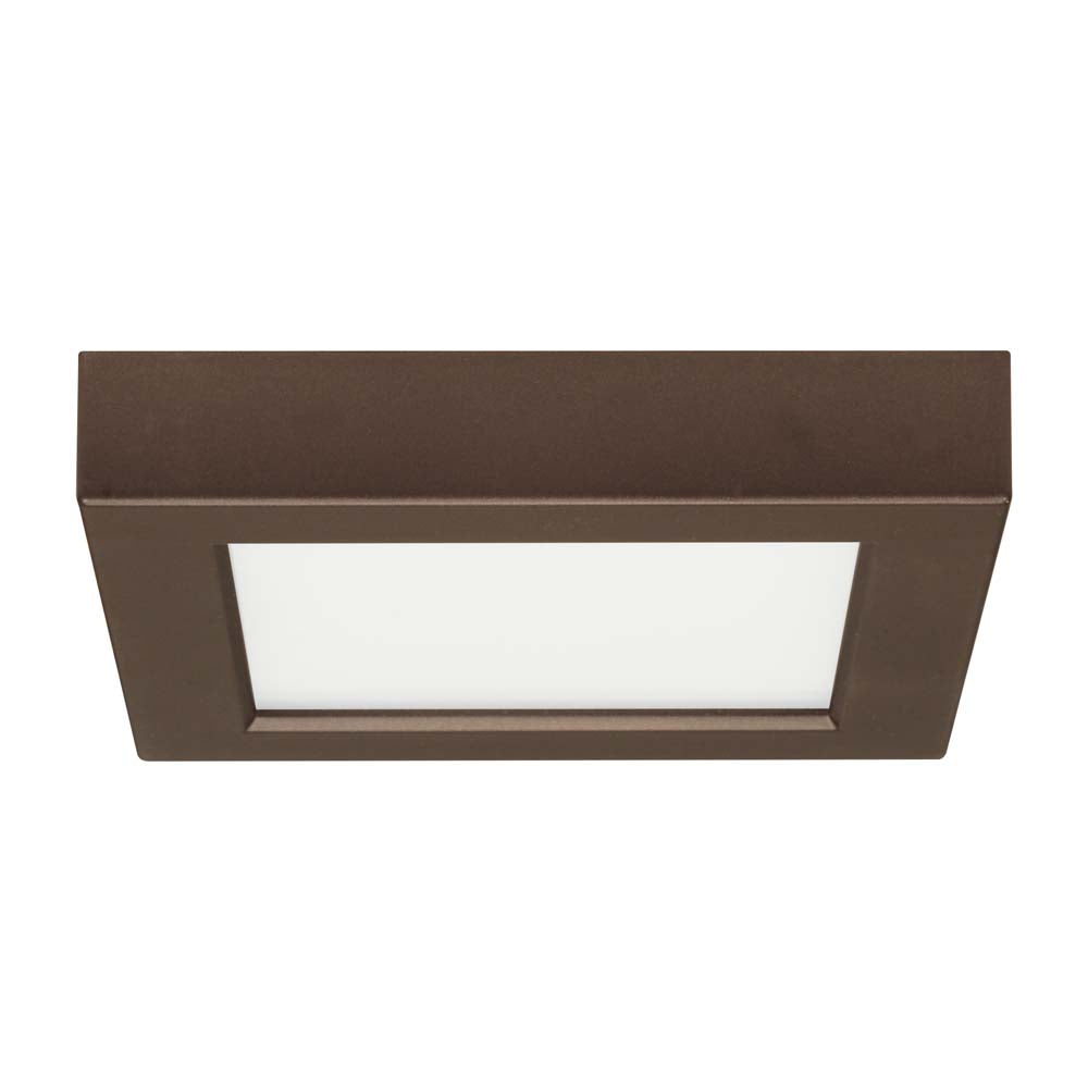 Satco 5.5in. 10.5w Flush Mount LED Fixture 3000K SquareBronze Finish 120 volts