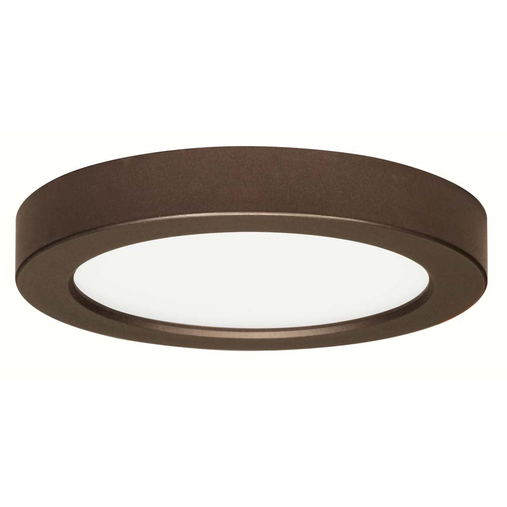 Satco 7in. 13.5w Flush Mount LED Fixture 3000K Round Bronze Finish 120 volts