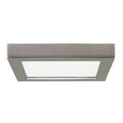 Satco 7in. 13.5w LED Fixture 3000K Square Brushed Nickel Finish 120 volts