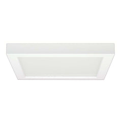 Satco 9in. 18.5w Flush Mount LED Fixture 4000K SquareWhite Finish 120 volts