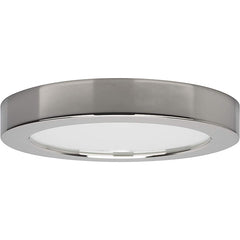 "10.5 watt 5.5"" Flush Mount LED Fixture 3000K Round Shape Polished Chrome Finish 120 volts"