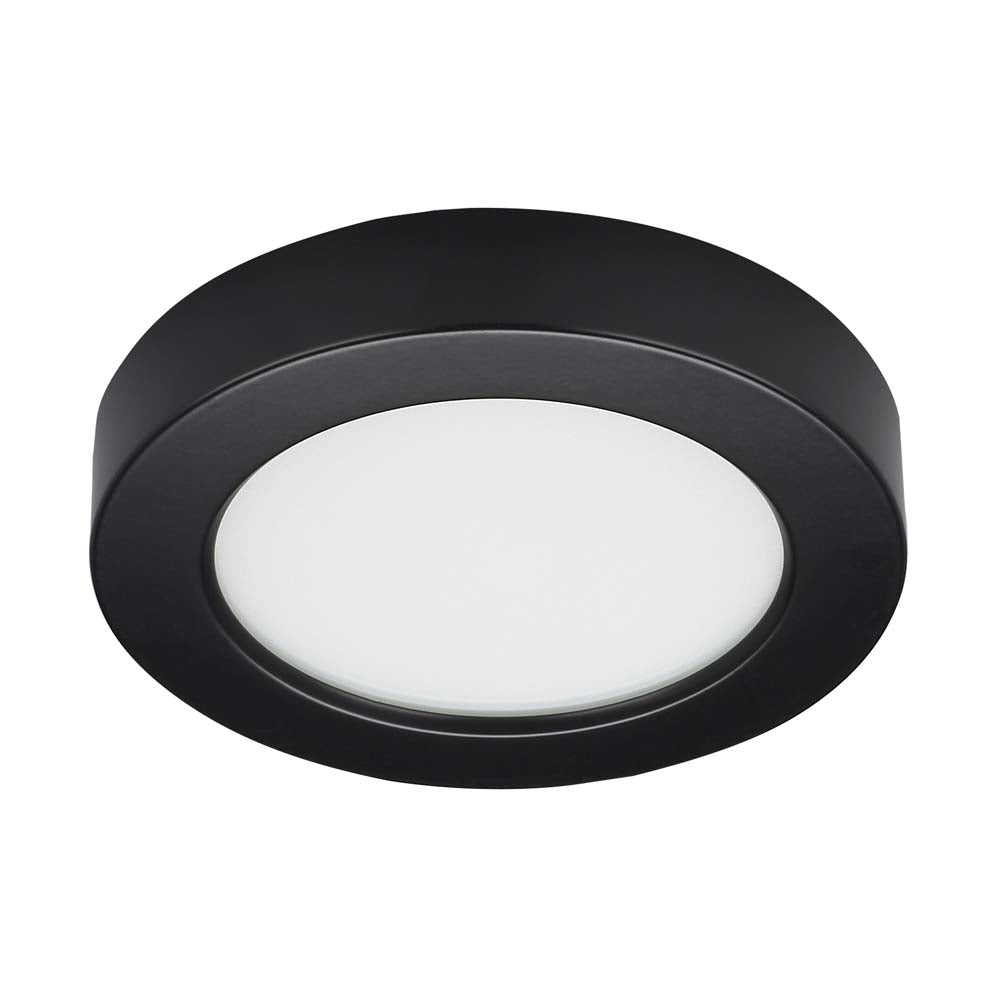 "10.5 watt 5.5"" Flush Mount LED Fixture 3000K Round Shape Black Finish 120 volts"