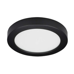 "13.5 watt 7"" Flush Mount LED Fixture 3000K Round Shape Black Finish 120 volts"