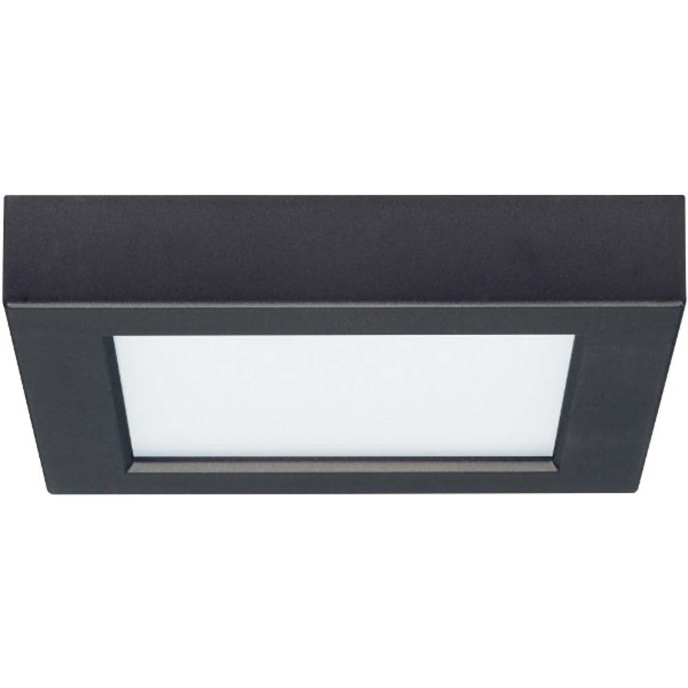 10.5W 5.5 in. Flush Mount LED Fixture 3000K Square Shape Black Finish 120V