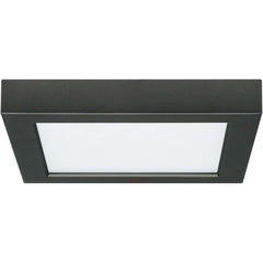 13.5W 7 in. Flush Mount LED Fixture 3000K Square Shape Black Finish 120V