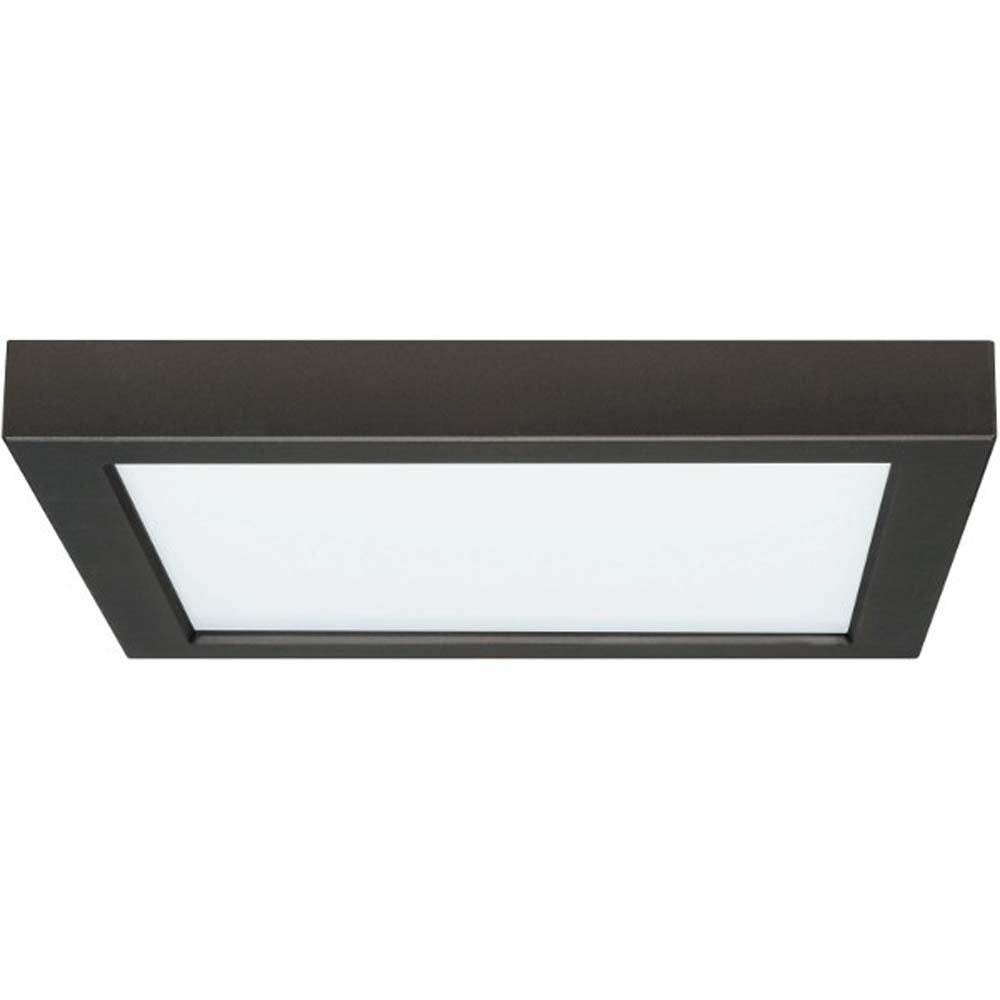 18.5W 9 in. Flush Mount LED Fixture 3000K Square Shape Black Finish 120V