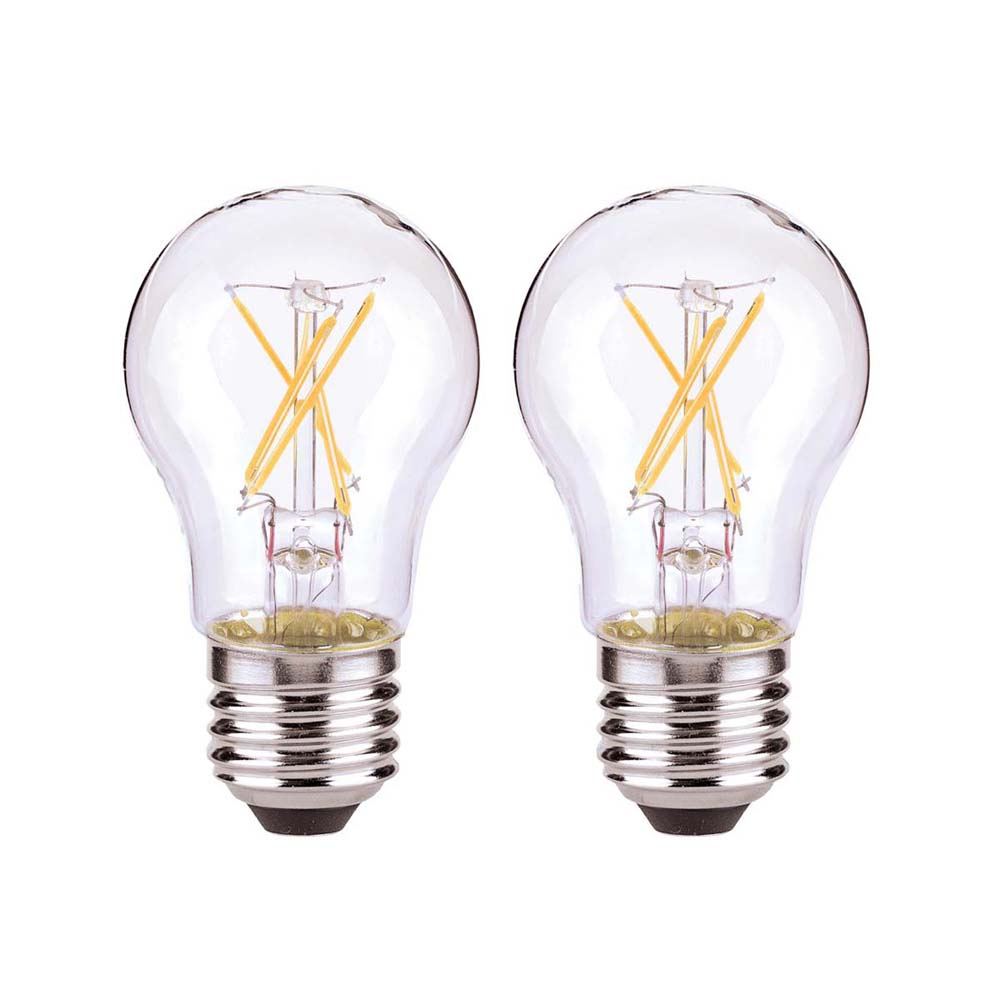 2Pk - Satco 5 watts A15 LED Clear 120v Medium Base 2700k bulb