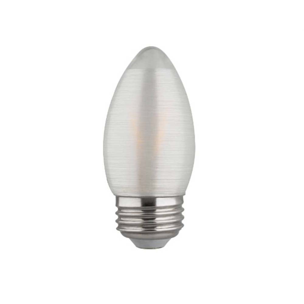 Satco S22703 2w C11 LED Satin Spun Clear 120v Medium Base 120lm 2700k bulb