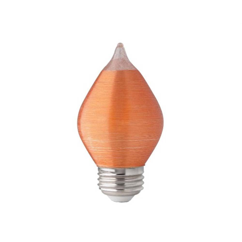 Satco S22712 4w C15 LED Satin Spun Amber 120v 240lm Medium Base 2100k bulb