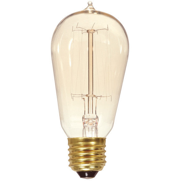 Satco 40W 120V Cage Style Antique Carbon Filament Light Bulb
